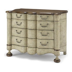 EcoFirstArt - Netherlands Chest - If you cherish tradition — with a twist — invite this unique wooden chest into your bedroom. Elegant curves, exaggerated bun feet, two complementary tones and handsome hardware make it an exceptional choice for your personal space.