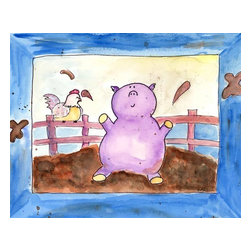 Oh How Cute Kids by Serena Bowman - Pig Pen, Ready To Hang Canvas Kid's Wall Decor, 8 X 10 - Every kid is unique and special in their own way so why shouldn't their wall decor be so as well! With our extensive selection of canvas wall art for kids, from princesses to spaceships and cowboys to travel girls, we'll help you find that perfect piece for your special one.  Or fill the entire room with our imaginative art, every canvas is part of a coordinating series, an easy way to provide a complete and unified look for any room.