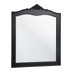 Hayneedle - Foremost VTBM3035 Violet Bathroom Mirror - Antique Black - VTBM3035 - Shop for Bathroom Mirrors from Hayneedle.com! While most mirrors are happy to fade into the background of your bathroom decor the Foremost VTBM3035 Violet Bathroom Mirror - Antique Black isn t afraid to stand out and make a design statement of its own. Elegant carved accents and a slightly scalloped top look extra luxe thanks to the distressed antique black finish.Plus this mirror has a flat non-beveled edge and on the back you ll find pre-attached mounting hooks so installation is a breeze. Pair it with the Violet bathroom vanity from Foremost (sold separately) or your own bathroom ensemble. You can even display it in an entryway dining area living room or bedroom - it s a chic choice wherever it hangs. Designed to be hung vertically.About Foremost Groups Inc.Established in 1988 based on simple strategies and principles Foremost remains dedicated to their mission of providing fashionable innovative designs and knowledgeable friendly customer service to their customers on a daily basis. Throughout the years Foremost has developed offices and distribution centers in the U.S. and Canada with four separate product divisions consisting of bathroom furniture indoor and outdoor furniture and even food service equipment. All of their products are proudly constructed with world class engineering and the best designs at an affordable price.