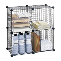 Safco - Wire Cubes in Black - Versatile design. Welded open wire construction. Reduces dust accumulation. Twenty square interlocking grids. 22 plastic corner connectors and 16 clips. 20 lbs per cube carrying capacity. Stackability upto 3 in. height. GREENGUARD Certified. Made from steel. 15 in. W x 15 in. D x 15 in. H (12 lbs.). Assembly InstructionAre you wired? Get wired and get organized with Wire Cubes! Great for storing items in your supply or storage area and even in your warehouse. Use in your office for a little extra storage space or even display personal items. Wire Cubes also work great in the mail room, training center, classroom or library.