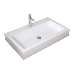 Badeloft - Badeloft - Stone Resin - Countertop Sink, Glossy, Large - Enhance your bathroom with an impressive bathroom sink designed with contemporary appeal. The enduring beauty of the WB-05-L stone resin countertop sink will complement your contemporary or traditional bath for a modern appeal that will last a lifetime. The majestic character of this classic bathroom sink is an eye-catching addition to your bathroom and will blend with ease into any decor scheme. Built to last, the durable stone resin construction of this sink is completed with effortless cleaning and maintenance. Elegance is in its purest form with this timelessly sophisticated countertop bathroom sink. Create a striking focal point when you introduce this meticulously crafted sink to your luxury bathroom.