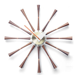 NyeKoncept - Burst Clock - Inspired by George Nelson's Spindle Clock which was designed in 1958, the Burst Clock has the perfect scale, look and function for our time. Its classic design makes it the perfect choice for meeting spaces or dining areas.