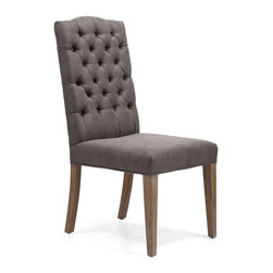 Zuo Modern - Zuo Modern Gough Side Chair in Charcoal Gray [Set of 2] - Side Chair in Charcoal Gray belongs to Gough Collection by Zuo Modern Side Chair (2)