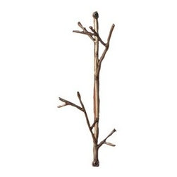Ancient Graffiti Double Wire Twig Hook - I like the simplicity of this twig hook. It would make a great accent piece.