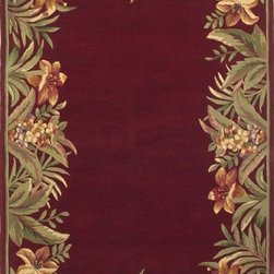 """Kas - Country & Floral Sparta 8'6""""x11'6"""" Rectangle Red Area Rug - The Sparta area rug Collection offers an affordable assortment of Country & Floral stylings. Sparta features a blend of natural Black color. Hand Tufted of 100% Wool the Sparta Collection is an intriguing compliment to any decor."""