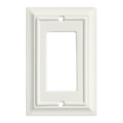 Liberty Hardware - Liberty Hardware 126332 Wood Architectural WP Collect 3.39 Inch Switch Plate - A simple change can make a huge impact on the look and feel of any room. Change out your old wall plates and give any room a brand new feel. Experience the look of a quality Liberty Hardware wall plate. Width - 3.39 Inch, Height - 5.5 Inch, Projection - 0.4 Inch, Finish - White, Weight - 0.13 Lbs.