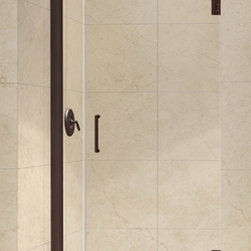 "Dreamline - Unidoor 33 to 34"" Frameless Hinged Shower Door, Clear 3/8"" Glass Door - The Unidoor from DreamLine, the only door you need to complete any shower project. The Unidoor swing shower door combines premium 3/8 in. thick tempered glass with a sleek frameless design for the look of a custom glass door at an amazing value. The frameless shower door is easy to install and extremely versatile, available in an incredible range of sizes to accommodate shower openings from 23 in. to 61 in.; Models that fit shower openings wider than 31 in. have an adjustable wall profile which allows for width or out-of-plumb adjustments up to 1 in.; Choose from the many shower door options the Unidoor collection has to offer for your bathroom renovation."