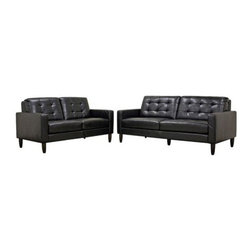 Wholesale Interiors - Caledonia 2-Piece Living Room Set - Contemporary yet with a classic appeal, the Caledonia Sofa Set is equally suited for your home, office or waiting area.