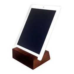 Sean Alan Designs - iPad/Tablet Stand-The Block No Cranny - The block with no finger groove is a cleaner version of our main block.  This little devil has no finger cranny, buts still demands the attention it deserves.