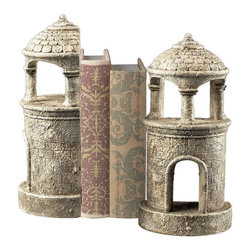 Sterling Industries - Turret Bookends - Turret Bookends
