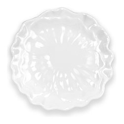 "Peony 5.5"" Plate - White Floral Appetizer Plate"