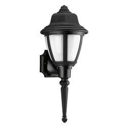Progress Lighting - Progress Lighting P5748-31Wb One-Light Wall Lantern In Black Finish With White A - One-light wall lantern in Black finish with white acrylic globe. 120V NPF electronic ballast.
