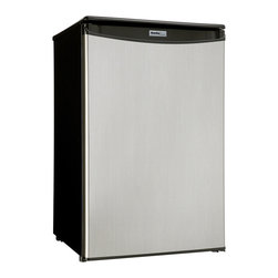 Danby - 4.4 Cu.ft All Refrigerator, Spotless Steel Finish - Features: