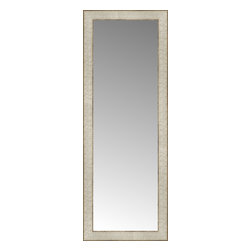 """Posters 2 Prints, LLC - 14"""" x 37"""" Libretto Antique Silver Custom Framed Mirror - 14"""" x 37"""" Custom Framed Mirror made by Posters 2 Prints. Standard glass with unrivaled selection of crafted mirror frames.  Protected with category II safety backing to keep glass fragments together should the mirror be accidentally broken.  Safe arrival guaranteed.  Made in the United States of America"""