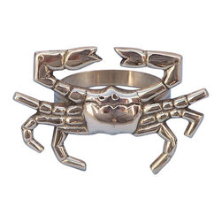 "Handcrafted Model Ships - Brass Crab Napkin Ring 3"" - Brass Napkin Ring - This Brass Crab Napkin Ring 3"" is the perfect addition for those with a nautical theme kitchen. Strong, sturdy, and durable buy a set of these napkin rings to accommodate all of your guests. The brass finish on this crab will infuse your dining area with a rustic nautical appearance. Dimensions: 3"" Long x 2"" Wide x 2"" High"