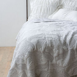Bramble Coverlet - White bedding is versatile and always gives a bedroom a lift. This coverlet is so special.