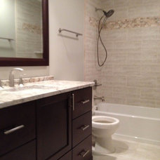 Transitional Bathroom by P&M Renovations
