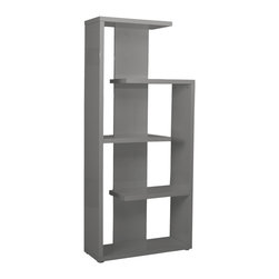 Eurostyle - Robbie Shelving Unit-Gry - Lacquered MDF
