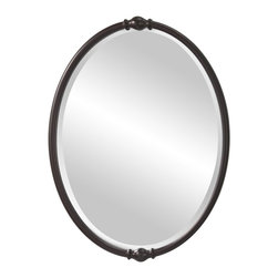 Murray Feiss - Murray Feiss Jackie Mirror in Oil Rubbed Bronze - Shown in picture: Jackie Mirrors in Oil Rubbed Bronze finish with Clear Glass