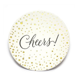 Sugar Paper - Cheers Letterpress Coasters - These letterpress coasters might make you want to pop some bubbly and invite the neighbors over for a celebration. What a great way to add some polish to an impromptu party. Cheers, indeed!