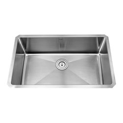 """Kraus - Kraus 30"""" Undermount Single Bowl Stainless Steel Sink Combo Set - Add an elegant touch to your kitchen with unique Kraus kitchen combo"""