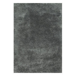 """Loloi Rugs - Loloi Rugs Garden Shag Collection - Slate, 5' x 7'-6"""" - Introducing one of our most inventive collections; the first-ever indoor/outdoor shag. Hand woven in India of 100% polyester, Garden Shag offers the same softness and textural appeal of our other shag collections, except this yarn is treated to withstand all of mother nature's elements including sunshine, rain, and dirt. And because the look is so versatile, Garden Shag looks equally at home as an easy-to-clean rug in the dining room or sunroom as it does outdoors."""