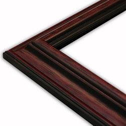 The Frame Guys - Traditional Slope Mahogany Picture Frame-Solid Wood, 12x14 - *Traditional Slope Mahogany Picture Frame-Solid Wood, 12x14