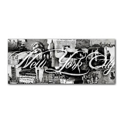 """READY2HANGART.COM - Ready2hangart Alexis Bueno Vintage B&W New York City Canvas Wall Art - Artist Alexis Bueno, takes you through the history of select cities and countries with his series Vintage Black & White. The abstract rendition in canvas art is offered as part of a limited """"Home Decor"""" line."""