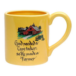 ATD - 5.75 Inch Yellow Farmer Collectible Mug with Barn Design and Quote - This gorgeous 5.75 Inch Yellow Farmer Collectible Mug with Barn Design and Quote has the finest details and highest quality you will find anywhere! 5.75 Inch Yellow Farmer Collectible Mug with Barn Design and Quote is truly remarkable.