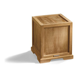 """Frontgate - Harbor Outdoor Teak Pedestal - Frontgate-exclusive design. Made of 100% teak and stainless steel. Holds a 4"""" dia. x 9""""H candle, sold separately. Includes a 5-3/4"""" dia. x 12-1/2""""H glass hurricane for candle. Small drain holes keep the lantern and pedestal dry. Accent an entryway or define an outdoor living space with the warm glow of candlelight and premium teak wood. Handmade from this durable, beautifully grained and weather-resistant wood, our Harbor Teak Lantern and Pedestal have a time-honored coastal design. The Lantern has an open diamond shape on each side and a substantial rod handle that allows for easy repositioning. . . . . . Clean with a dry or damp soft cloth; do not use abrasive cleaners."""