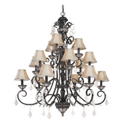 "Dolan Designs - Dolan Designs 2103 Crystal 44"" Wide Chandelier Fixture Florence Collect - *Florence 15 Light Chandelier"