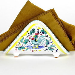 Artistica - Hand Made in Italy - Orvieto: Napkins Holder Deruta Vario - Orvieto Collection: This is a very old and traditional pattern that originated during the Renaissance in the hill-top town of Orvieto - Italy.