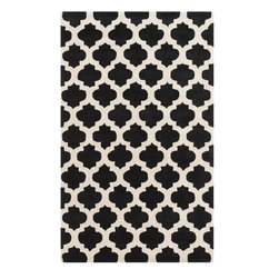 Surya - Surya Contemporary Cosmopolitan Black 2'x3' Rectangle Area Rug - With a look that is sure to remain a timeless part of your home decor for years to come the flawless rugs found within the Cosmopolitan collection by Surya offer an exquisite addition from room to room within any home decor. Hand tufted in  polyester these perfect pieces not only possess a durable construction type but also brilliantly blend elements of trend through their unique patterns and color with a series of scintillating shades found with