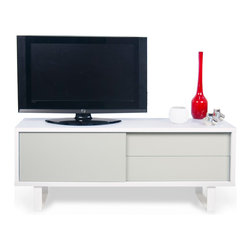 Temahome - TemaHome Nilo TV Table, Ligh Grey - Modern flavor with exquisite minimalist design.