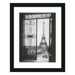 "Amanti Art - 'The Eiffel Tower from the Trocadero, 1925' Framed Print by Gall - Paris in the 1920s was known as ""Les Années Folles"" (the crazy years) for the glorious effervescence that abounded. Capture that spirit with the most iconic symbol of Parisian life, the Eiffel Tower, in this romantic, framed black and white print, taken from the Trocadero by artist Gall."