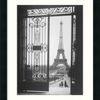 """Amanti Art - 'The Eiffel Tower From The Trocadero, 1925' Framed Print by Gall - Paris in the 1920s was known as """"Les Années Folles"""" (the crazy years) for the glorious effervescence that abounded. Capture that spirit with the most iconic symbol of Parisian life, the Eiffel Tower, in this romantic, framed black and white print, taken from the Trocadero by artist Gall."""