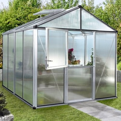 Halls Optimum 8 x 15-Foot Greenhouse - Additional Features Doors easily accommodate wheelbarrows and other tools Leave the top door open for extra ventilation Keeping the lower door will keep out children and animals Includes an integral base Greenhouse meets wind and snow load requirements Has 3 vents for air circulation 125 square feet of growing space Door measures 32W x 70H inches Sidewall measures 6.25 feet Peak height measures 8 feet Measures 8W x 15L x 8H feet Create the ideal green environment with the Halls Optimum 115 8 x 15-foot Greenhouse. With 125 square feet of growing space you'll never run out of room while planting and caring for all of your favorite plants and flowers. Perfect for the serious gardener the Halls Optimum Greenhouse is made with a sturdy aluminum frame and features single sheet 6mm polycarbonate panels which diffuse the light while retaining the heat so your plants won't be burned. The doors are split-style which gives you the convenience of being able to bring in your wheelbarrow and other gardening tools without hassle. Also you can keep the top door open to increase airflow while keeping the bottom door shut to keep out animals children and non-gardeners. This greenhouse also has two vents for air circulation and includes an integral base. Safe and virtually unbreakable the Halls Optimum Greenhouse meets all wind and snow load requirements making this greenhouse an ideal place to grow and protect your plants. Assembly is a weekend project for one or two people. About The Greenhouse Connection LLCThe Greenhouse Connections was established in 1993 to connect gardeners who are looking for a well-made traditional English greenhouse with Halls Garden Products Ltd. of England the world's leading manufacturer of hobby greenhouses. By networking with a variety of people and companies including independent garden centers nurseries mail-order garden and seed catalogs and greenhouse supply companies The Greenhouse Connection does just that. Their offices are located in Grant Pass OR.