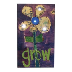 "Westland - ""Grow"" Quote Lighted Flowered Hanging Wall Art Canvas - Purple - This gorgeous ""Grow"" Quote Lighted Flowered Hanging Wall Art Canvas - Purple has the finest details and highest quality you will find anywhere! ""Grow"" Quote Lighted Flowered Hanging Wall Art Canvas - Purple is truly remarkable."