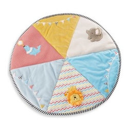 Kate Aspen - Baby Aspen Big Top Tummy Time Circus Playmat - Lay this big top down and the circus comes to town! Imagine baby's fascination for all the lively colors, stimulating sounds and the most captivating characters of babyhood.