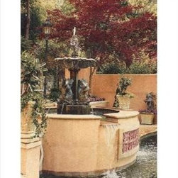 `Tranquil Fountain` Woven Tapestry Wall Hanging 45 In. X 70 In. - This woven tapestry wall hanging measures 45 inches wide, 70 inches long, and depicts a fountain in the center of a topiary garden. It makes a great gift. Note: this tapestry does not come with a hanger bar.
