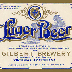 Buyenlarge - Gilbert Brewery Lager Beer 28x42 Giclee on Canvas - Series: Beer