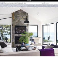 Courtney cox home. Interesting fireplace.
