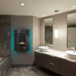 Heat & Glo Modern Series - REVO-V12 - Studio, Black, Aqua Backlight