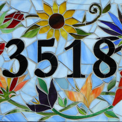 Custom-Made Mosaic House Number Sign - Custom mosaic house numbers ensure a touch of unique style at your front door.