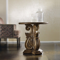 Hooker Furniture - Hooker Furniture Melange Serafina Accent Table 638-50068 - Come closer to Melange, and you will discover something unexpected, an eclectic blending of colors, textures and materials in a vibrant collection of one-of-a-kind artistic pieces.