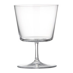 Cora Wine Glass in Wine Glasses - I love a glass that has multiple personalities. Is it for wine or dessert? Who am I kidding — does it really matter? They're cute either way.