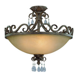 Jeremiah by Craftmade - Englewood French Roast Four Light Convertible - 25634-FR: ENGLEWOOD 4 Light ;  - Glass Finish: Painted Etched Jeremiah by Craftmade - 25634-FR
