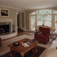 Traditional Living Room by Brennan + Company Architects