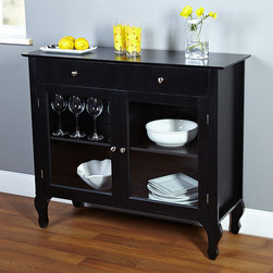 Simple Living - Simple Living Layla Black Buffet - Bring a functional and stylish element to your home decor with this beautiful Layla black buffet. Featuring a classic wood construction with glass-windowed doors,this charming buffet is complete with one adjustable shelf for easy,stylish storage.