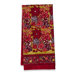 "Candy Flower Tea Towels, Red/Green, 20""x30"""